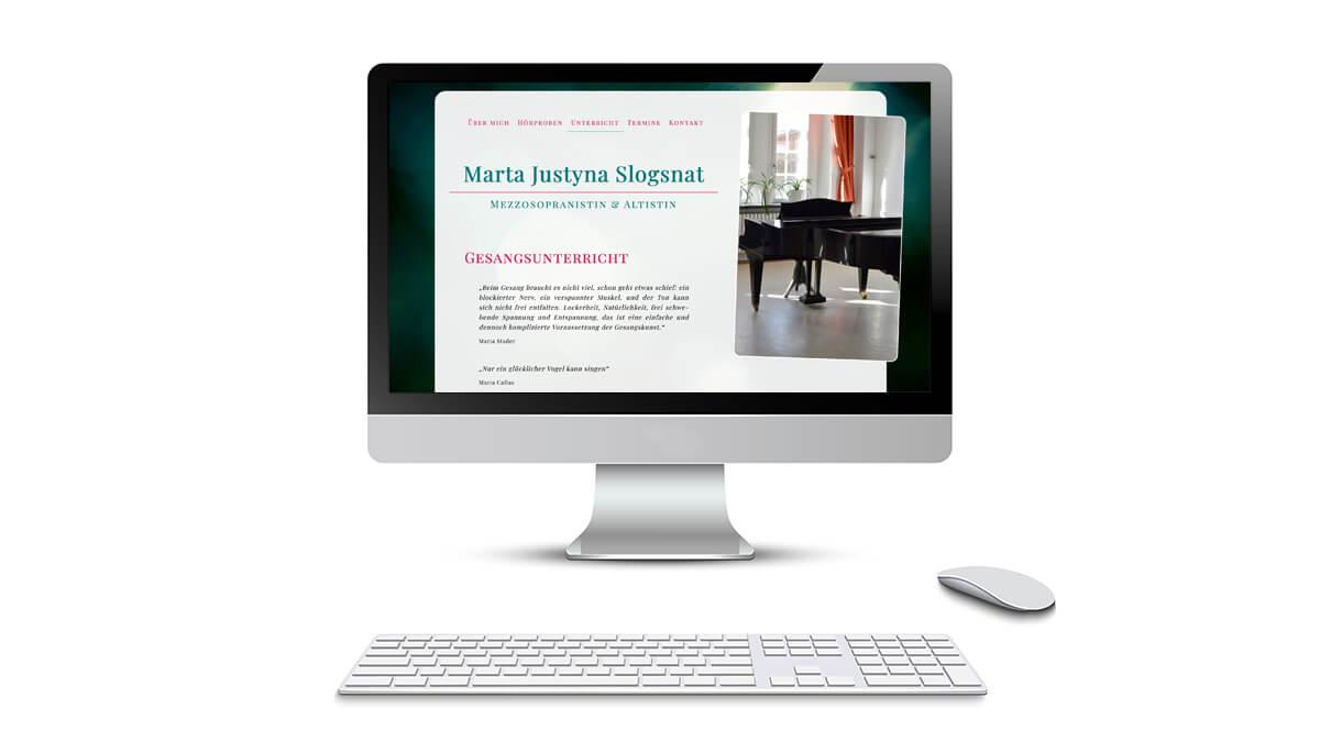 Marta Justyna Slogsnat –Mezzosopranistin und Altistin